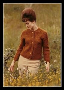 woman in wild flower field
