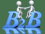 B2B figures shaking hands