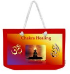 "Nancy's Novelty Photos on Pixels - Weekender Tote Bag ""Chakra Healing"""