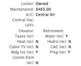 condominium maintenance fee
