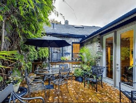 Cabbagetown Cottage Toronto Back Deck