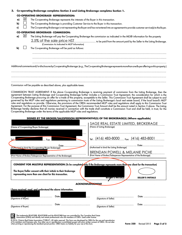 Sloppy real estate offer paperwork page 10