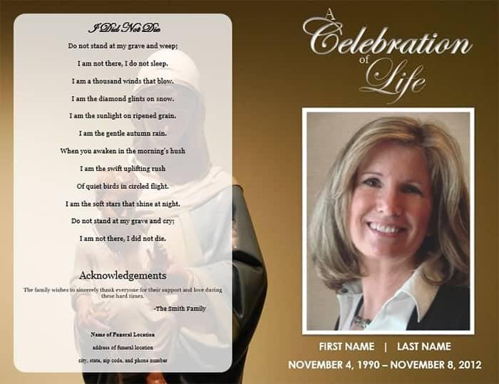 free funeral brochure templates online