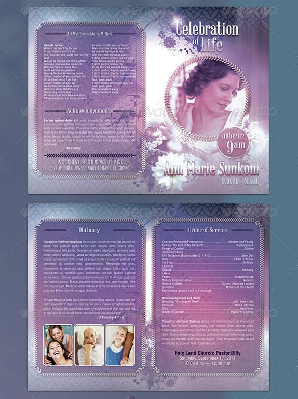 Funeral Program Image 4  Free Download Funeral Program Template
