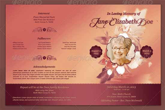 Funeral Program Image 8  Free Funeral Program Template Microsoft Word