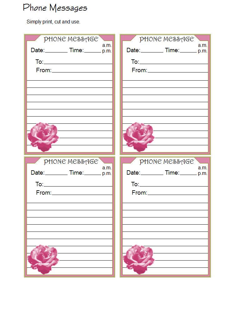 phone message templates