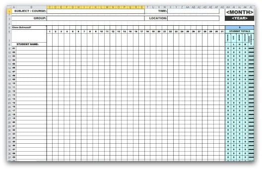 attendance sheet image 8