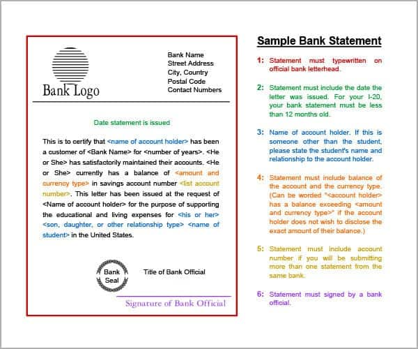 Free Bank Statement Template Free TemplateBank Statement