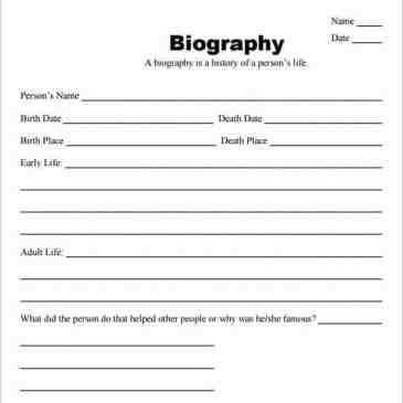 free biography template online archives word templates