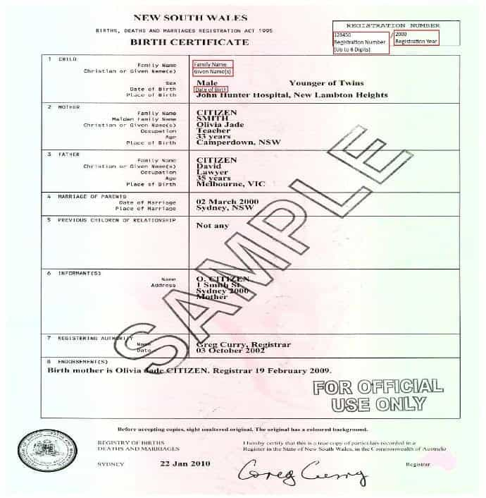 Birth Certificate Templates  Word Excel Pdf Formats
