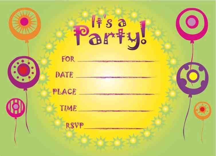 birthday party invitation 10