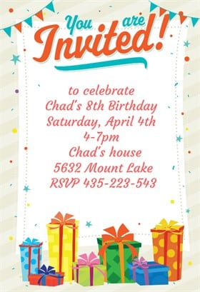 11 birthday party invitation templates word excel pdf formats birthday party invitation 4 stopboris Images