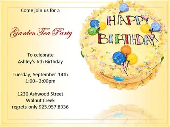 11 Birthday party invitation Templates Word Excel PDF Formats – Microsoft Word Birthday Invitation Template