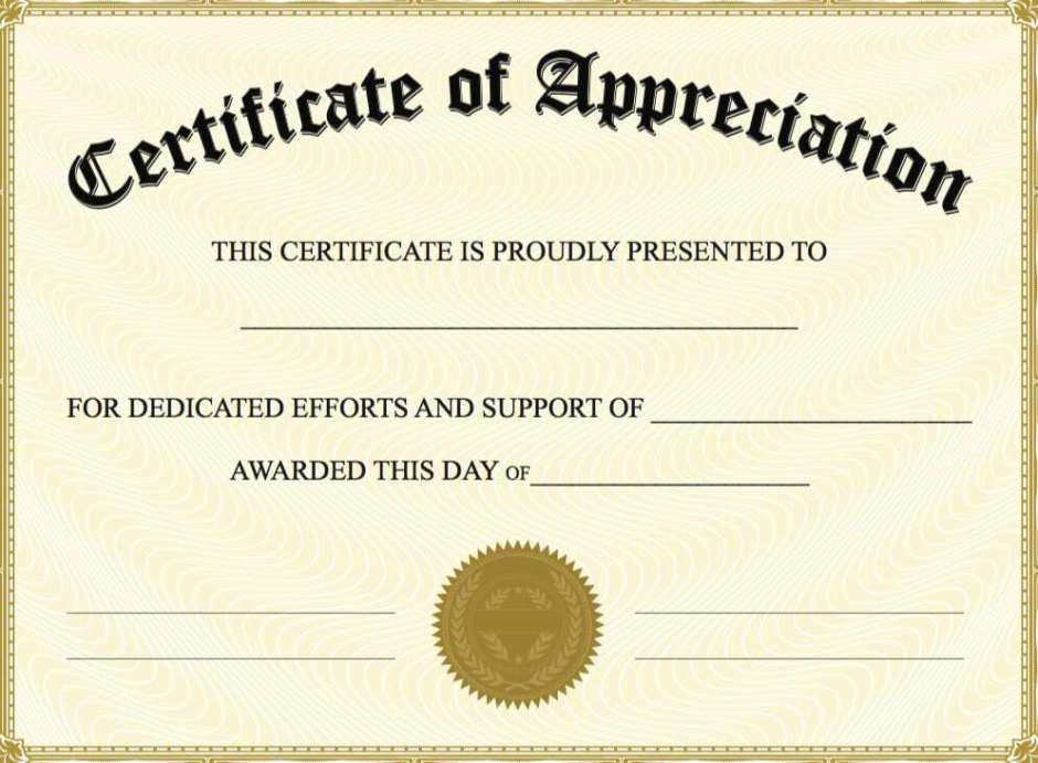 Appreciation certificate sample fieldstation appreciation certificate sample yelopaper