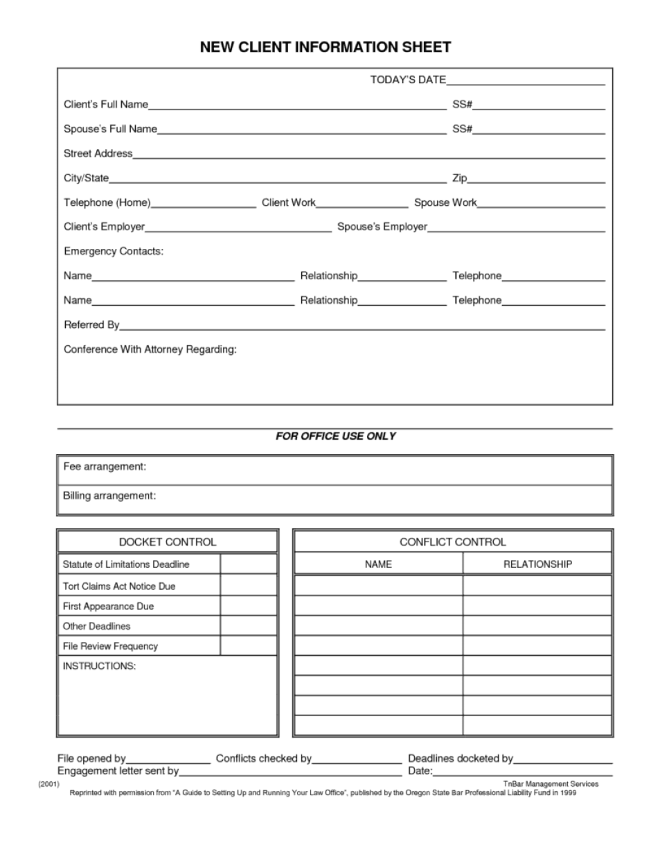 client information form template – New Customer Information Form Template