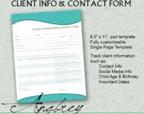 Doc412532 Information Sheet Template Word Business Client – Customer Contact Form Template