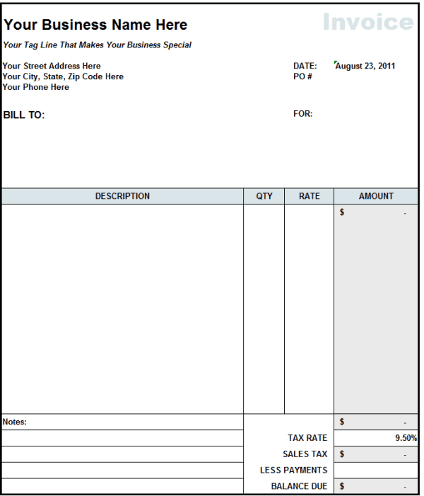 Captivating Contractor Invoice 1 Regard To Contract Invoice Template