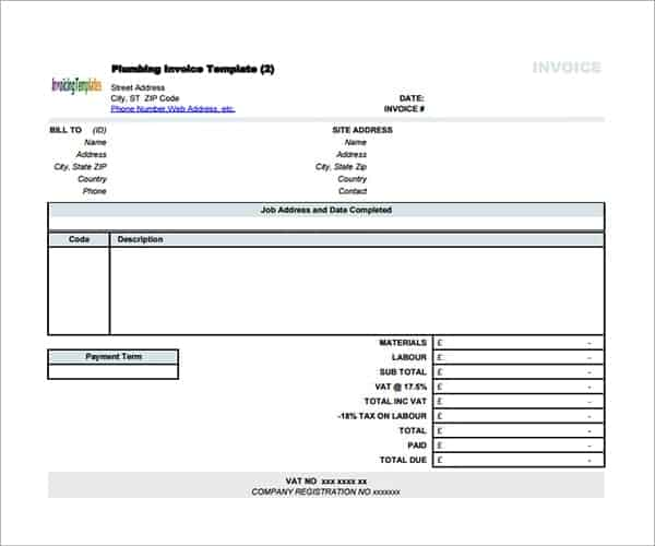 9 Contractor invoice Templates Word Excel PDF Formats – Contractor Invoice Template Word