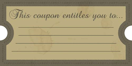 Coupon Maker Template. printable gift certificate templates 101 ...