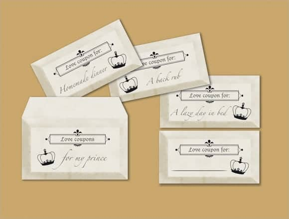 love coupon template