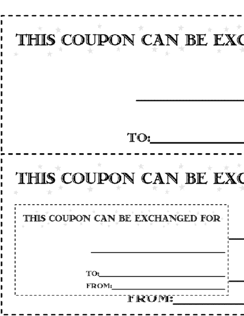 Free Printable Coupon Template. Coupon Image 7  Free Coupon Template