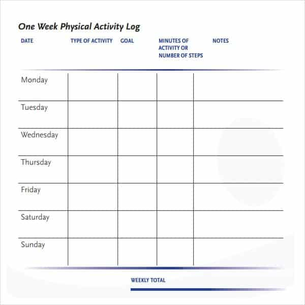 daily activity log 3