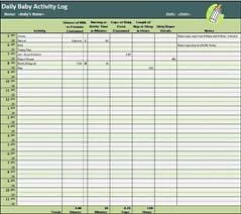 10+ Daily Activity Log Templates - Word Excel Pdf Formats