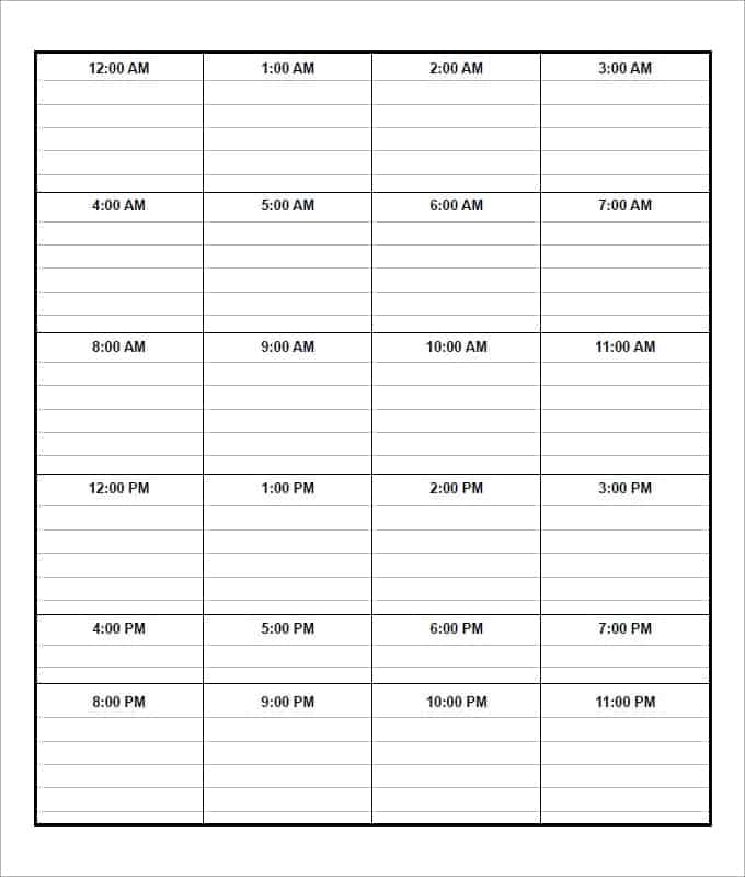 daily schedule iamge 6