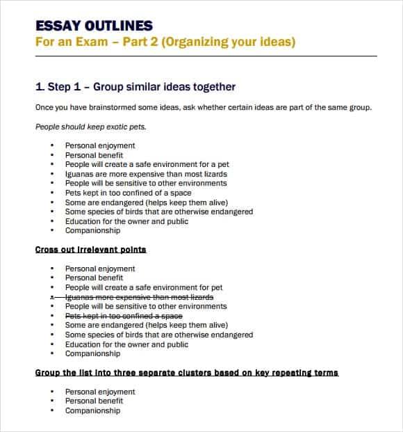 Essay Outline Image 2