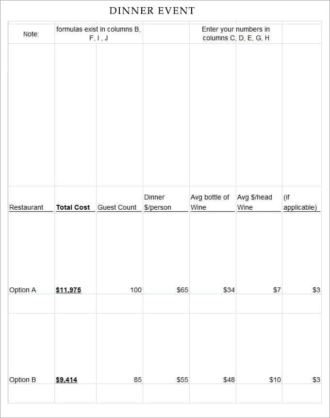 10+ Event Program Templates - Word Excel PDF Formats