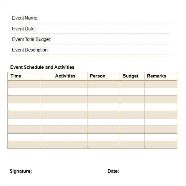 11 Event proposal sample templates Word Excel PDF Formats – Budget Proposal Template Word
