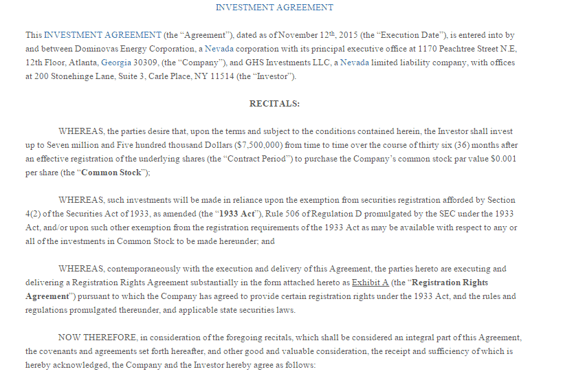 5+ Investment Contract Templates - Word Excel PDF Formats