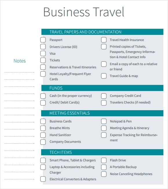 12+ Itinerary Templates - Word Excel PDF Formats