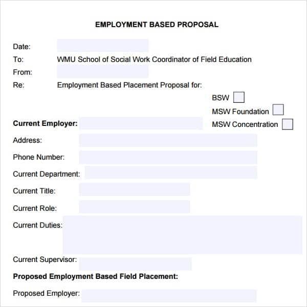 job proposal samples template