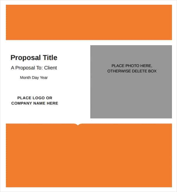 Job Proposal Templates  Word Excel Pdf Formats