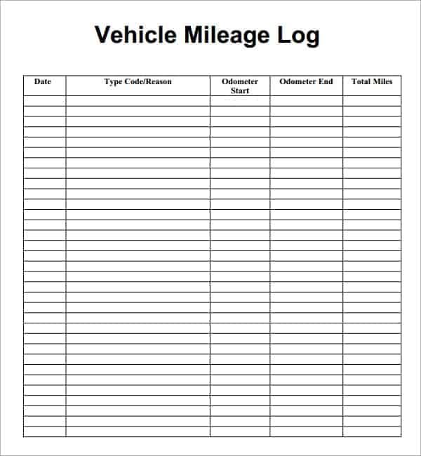 milage log