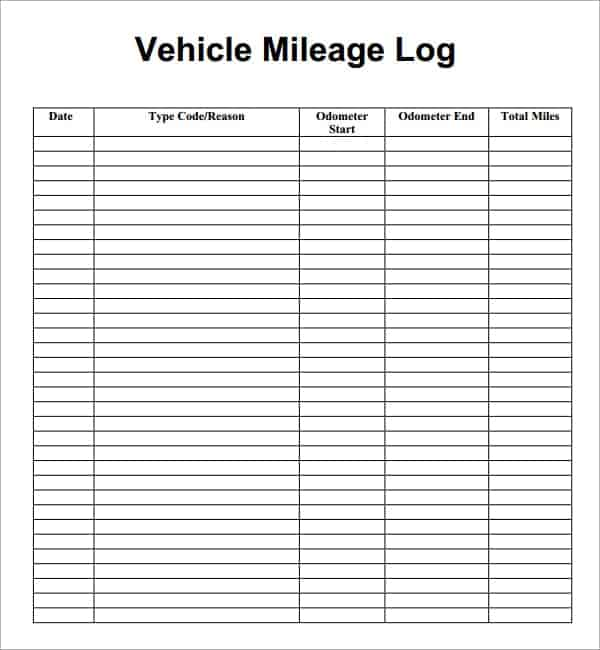 7 vehicle mileage log templates word excel pdf formats vehicle mileage log template free pronofoot35fo Images