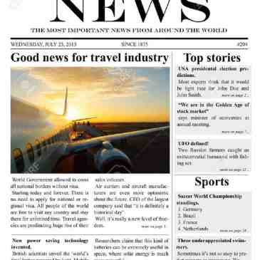 Editable Newspaper Template Archives - Word Templates