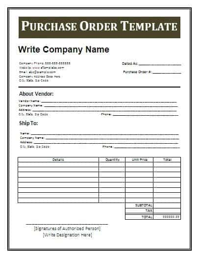 High Quality Order Form Image 10