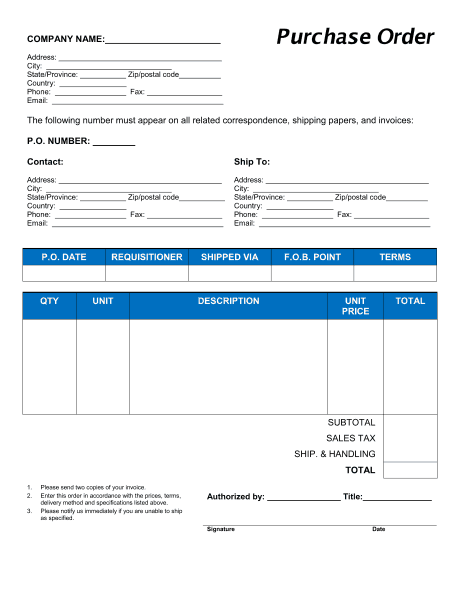 Wonderful Order Form Image 6  Purchase Order Form Example