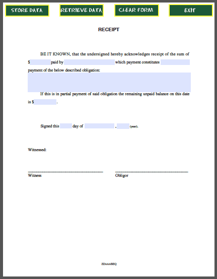 8 Payment receipt templates Word Excel PDF Formats – Reciept of Payment
