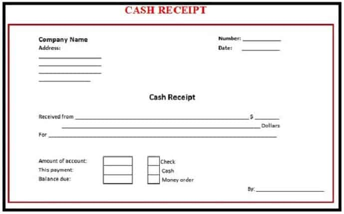 cash receiving format