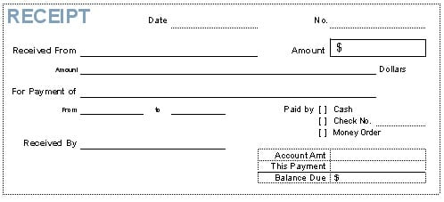 Loan Payment Receipt Template Archives - Word Templates