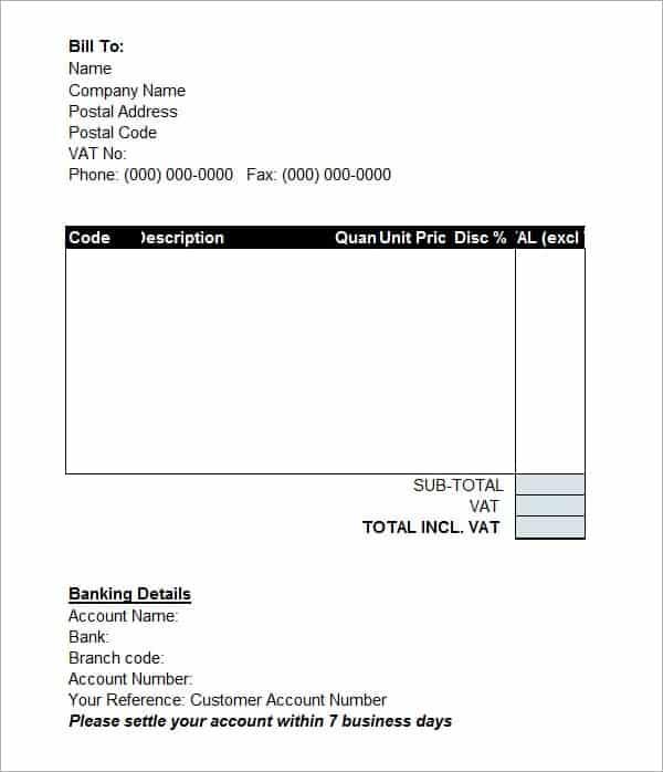 10 Proforma Invoice Templates Word Excel Pdf Formats