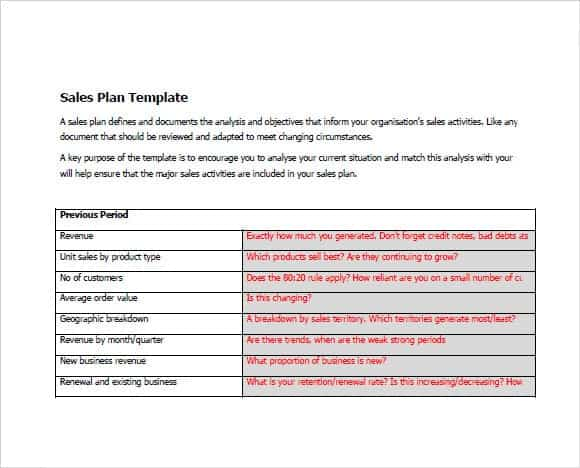 9+ Sales Plan Templates - Word Excel Pdf Formats