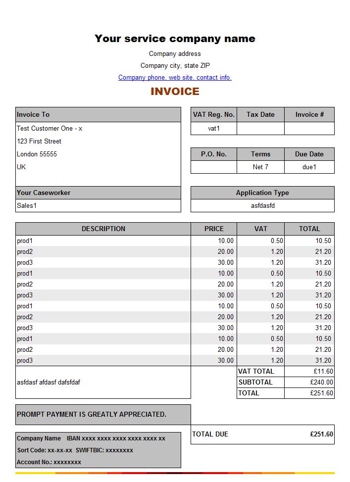 service invoice template image 8