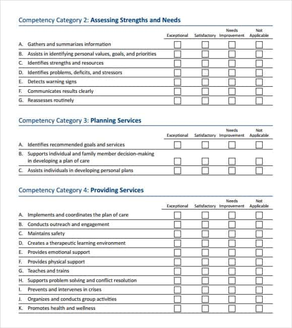 12+ Skills Assessment Templates   Word Excel Pdf Formats
