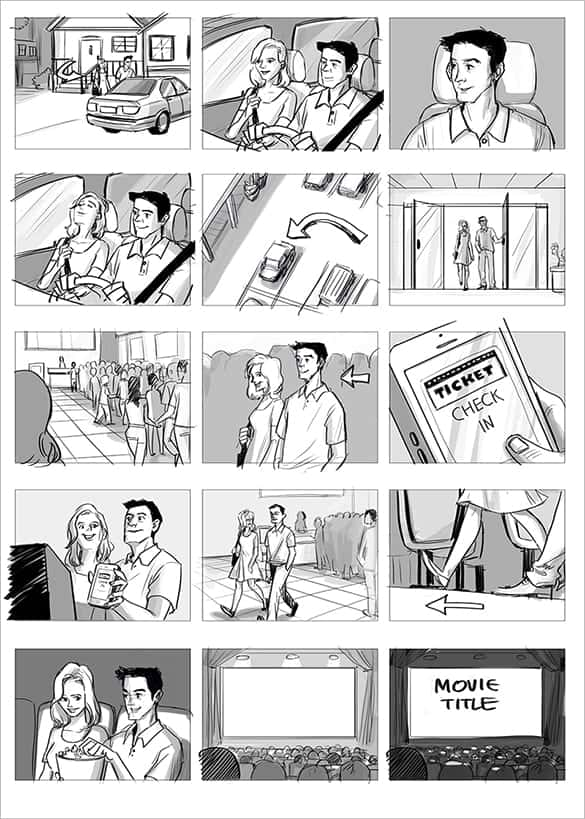 Storyboard Sample Archives  Word Templates