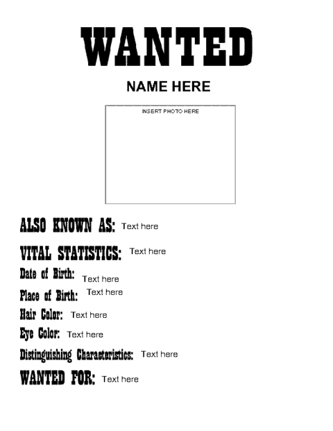 Wanted Template Microsoft Word. wanted poster letters sample leave ...