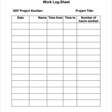Work log format in word Archives - Word Templates